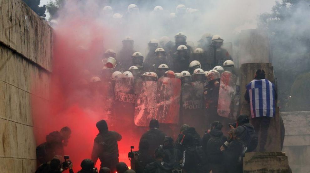 Многоброен протест в Атина срещу Договора от Преспа (СНИМКИ/ВИДЕО)