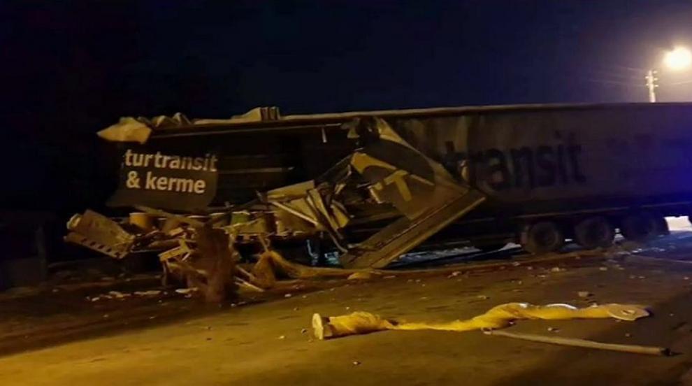 Камион се вряза в къща в село Самоводене (ВИДЕО)