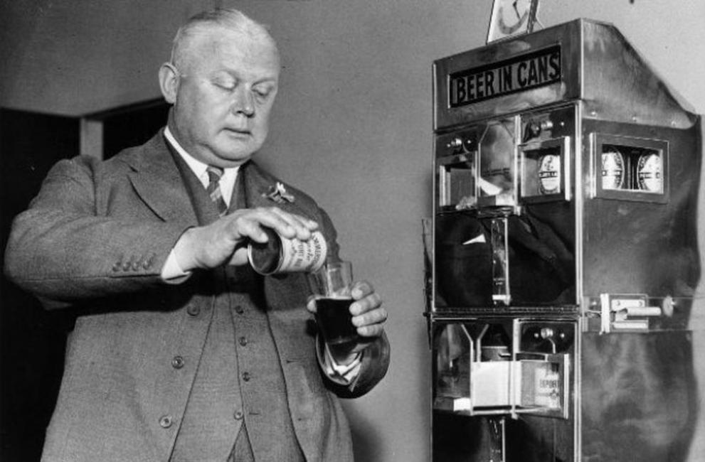 Резултат с изображение за първата в света консервирана бира.