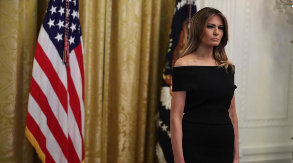 Мелания Тръмп отдаде почит на Карл Лагерфелд (СНИМКА)