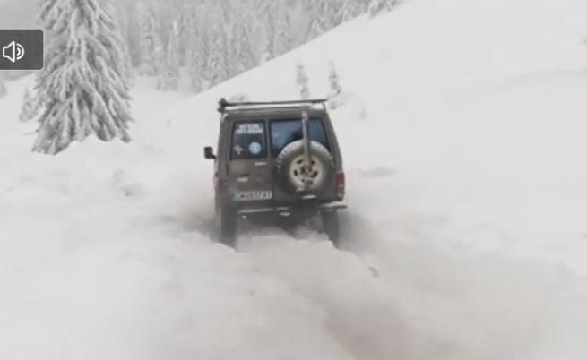 Седми ден родопско село под снега