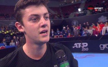 Лазаров загуби само гейм на старта в Румъния