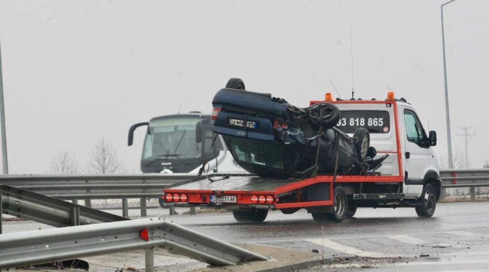 """12 души са пострадали в тежката катастрофа на магистрала """"Струма"""""""