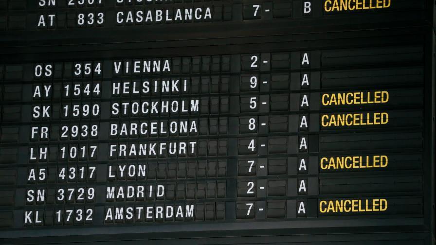 <p>Всички полети от и за Белгия са спрени</p>