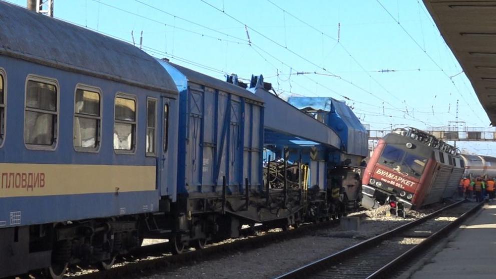 8623fe5b0cf Фирмата превозвач: Счупена стрелка е причината за дерайлирането на влака