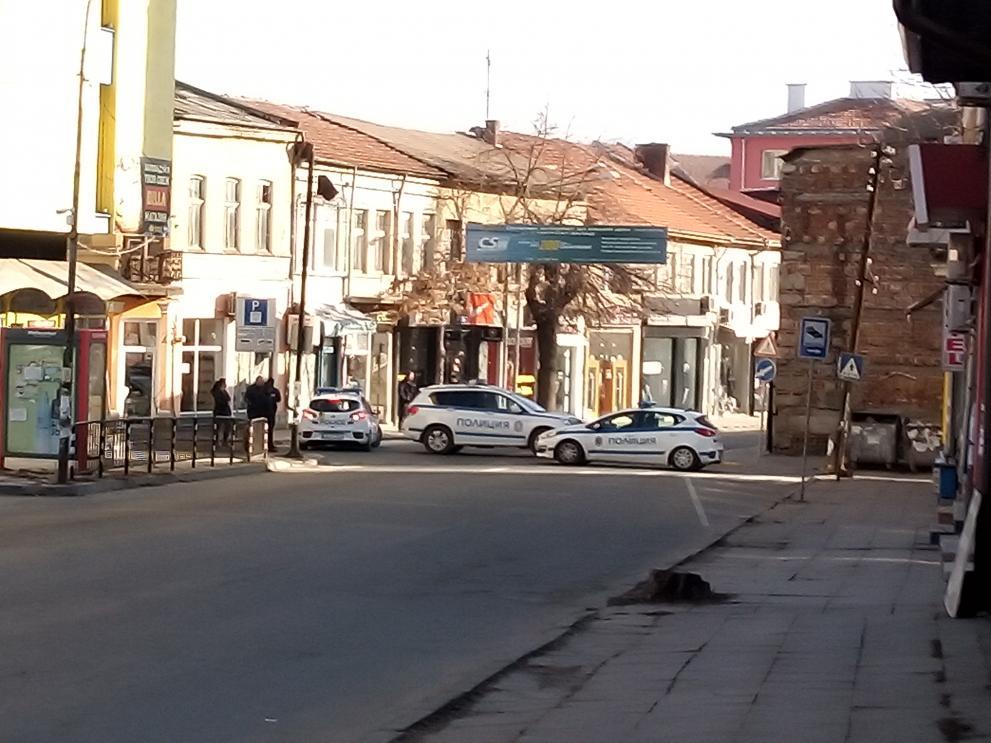 Блокираната част улица Цар Освободител