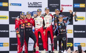 От Танак с убедителна победа в Рали Швеция