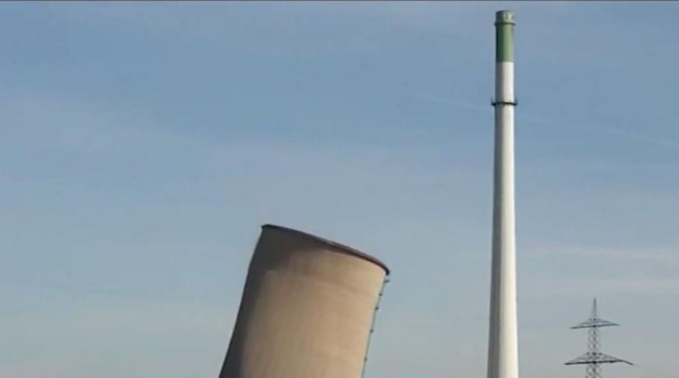 Разрушиха нерентабилна електроцентрала край Дортмунд (ВИДЕО)