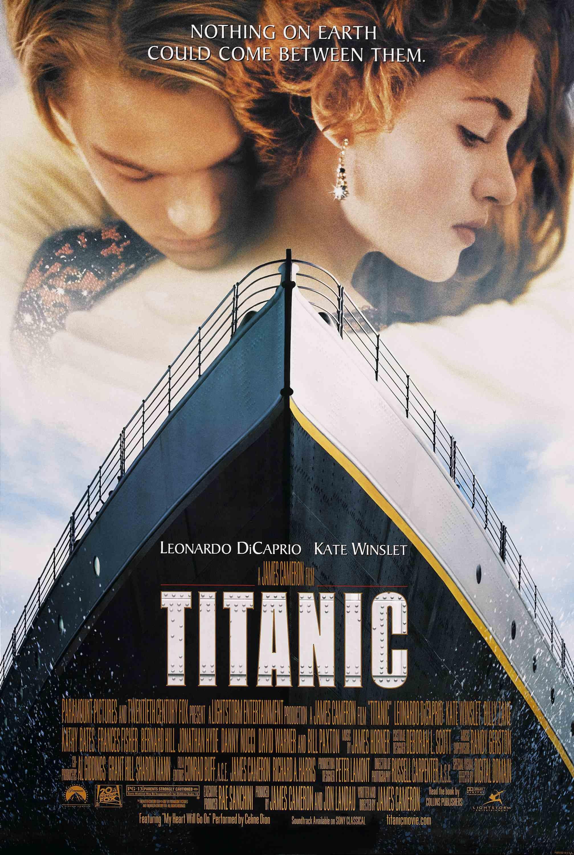 "Titanic / ""Титаник"" (1997) – Режисьор: Джеймс Камерън; Участват: Кейт Уинслет, Леонардо ДиКаприо, Бърнард Хил."