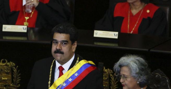 """Снимка: Николас Мадуро определи речта на Тръмп за Венецуела като """"почти в нацистки стил"""""""