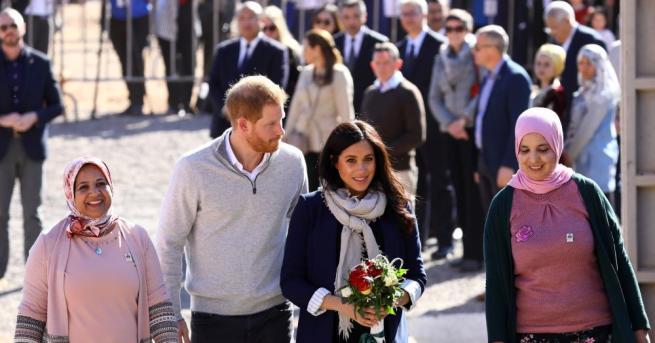 Херцозите на Съсекс принц Хари и съпругата му Меган пристигнаха