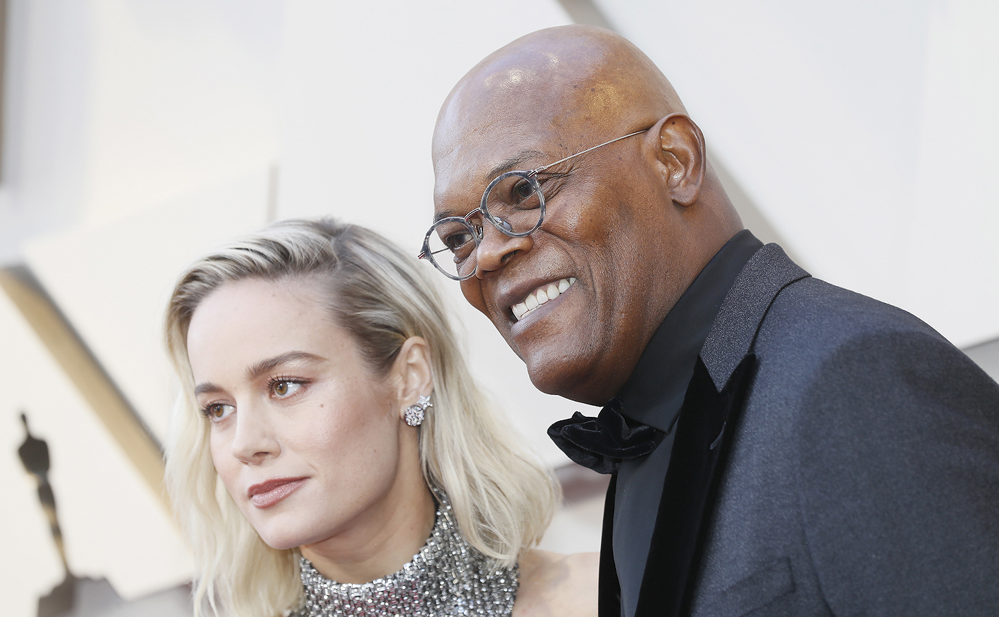 Brie Larson и Samuel L. Jackson