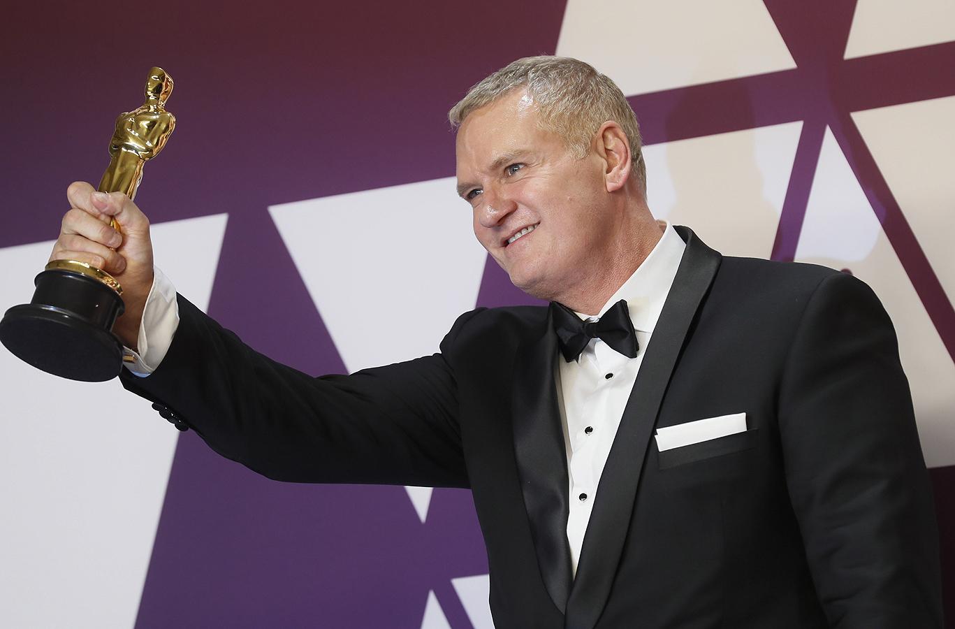 """В категорията за най-добър филмов монтаж, """"Оскар""""-ът отиде при Джон Отман за работата му във филма """"Бохемска рапсодия""""."""