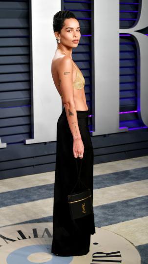 <p>Визията на Зоуи Кравиц от партито след раздаването на градите &quot;Оскар&quot;</p>