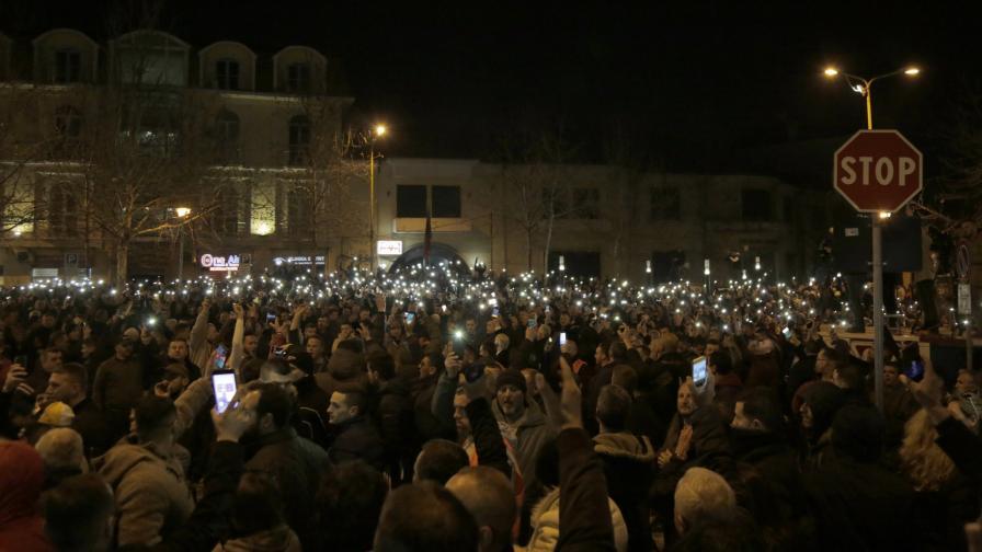 Протест на опозицията в албанската столица Тирана