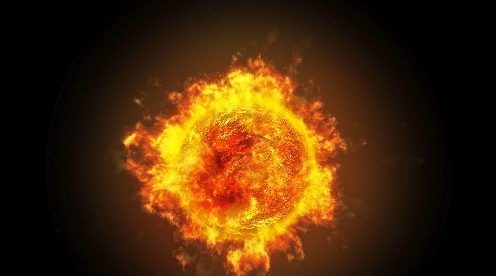Слънцето изригна мощно (СНИМКИ)