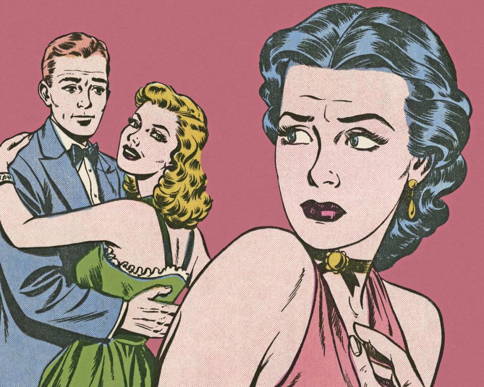 жена ревност ядосана