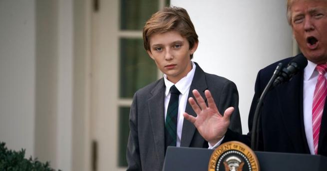 В Белия дом отново има тийнейджър - Барън, малкият син