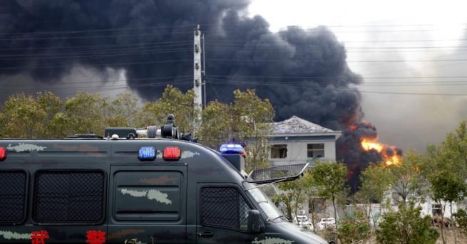 Рязко нарасна броят на жертвите от взрива в китайския химически