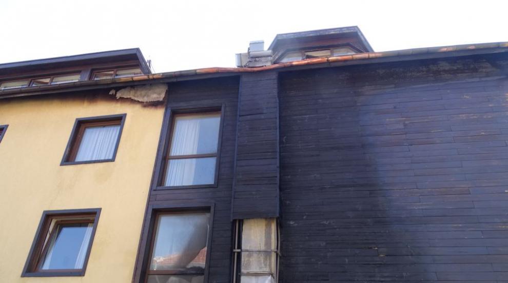 Контейнер за смет запали хотел в Банско (СНИМКИ)