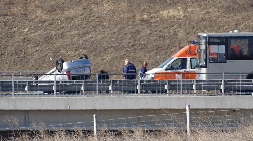 23-годишна шофьорка пострада при катастрофа край Благоевград