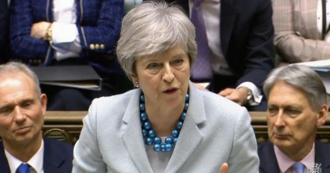 Британският премиер Тереза Мей съобщи, че в сряда в парламента