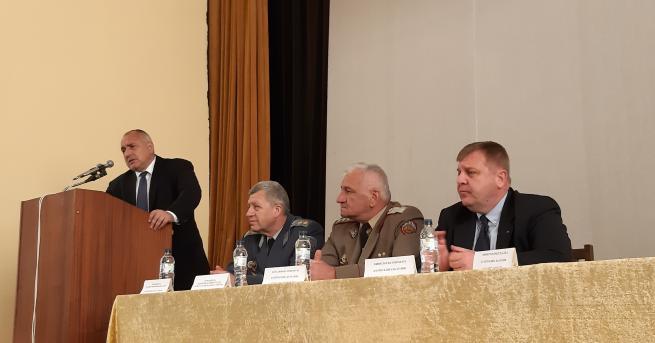"""Борисов и Каракачанов обявиха старта на възстановяването на ВВВУ """"Георги"""