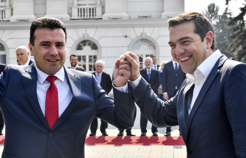 Това е първо посещение на гръцки премиер в страната след подписването на Договора от Преспа