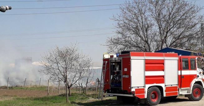 Сигнал за възникнал пожар в землището между селата Луково, Реброво