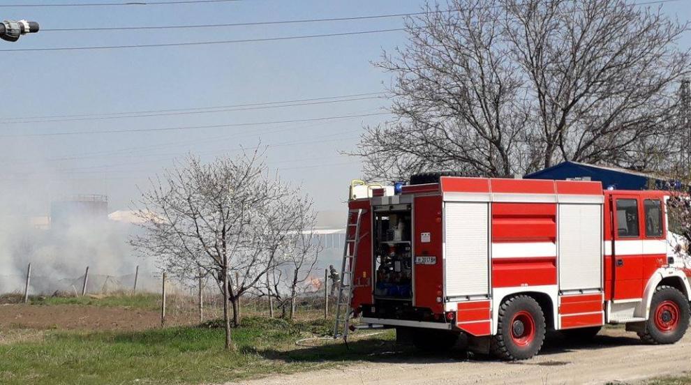 Локализиран е пожарът край село Реброво