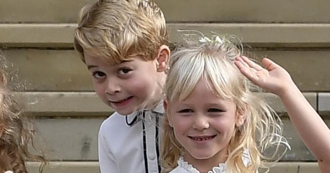 Братовчедите принцДжорджиМиа Тиндълдоказват, че вече са и най-добри приятели. Очарователната