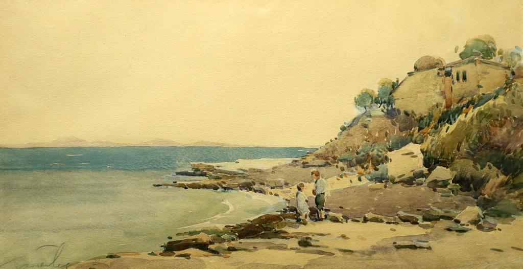 Райко Алексиев Край брега на Охридското езеро 1916г.