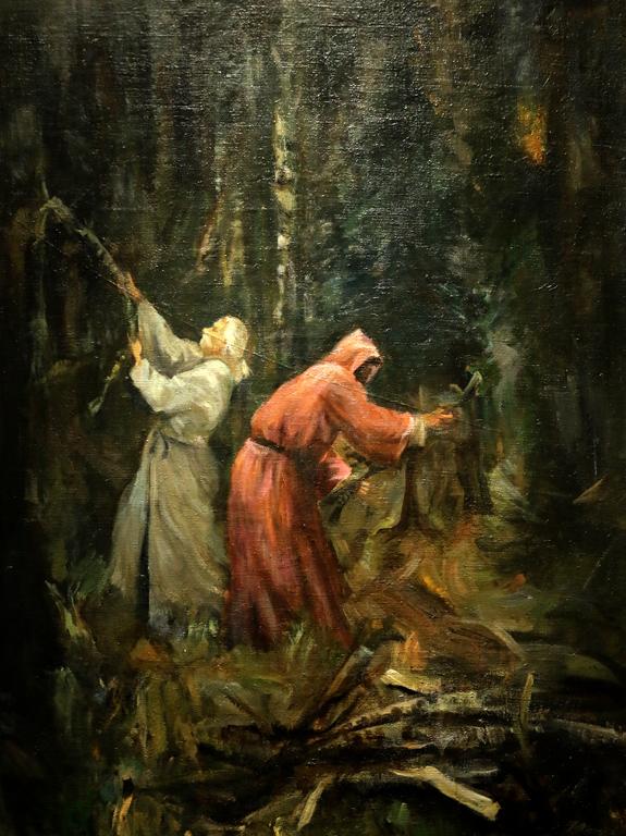 Господин Желязков Калугери в гората 1908г.