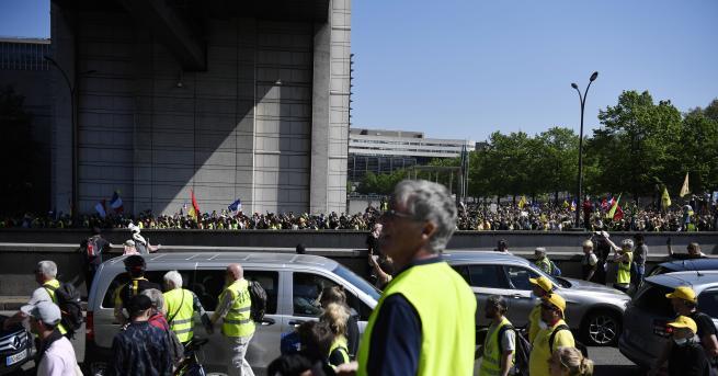 Свят Насилие на протеста на жълтите жилетки 23-ти протест, хората
