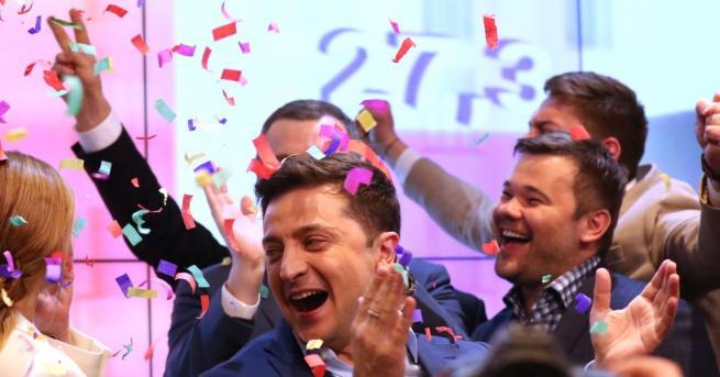 Снимка: Новият президент на Украйна Володимир Зеленски обяви приоритетите си