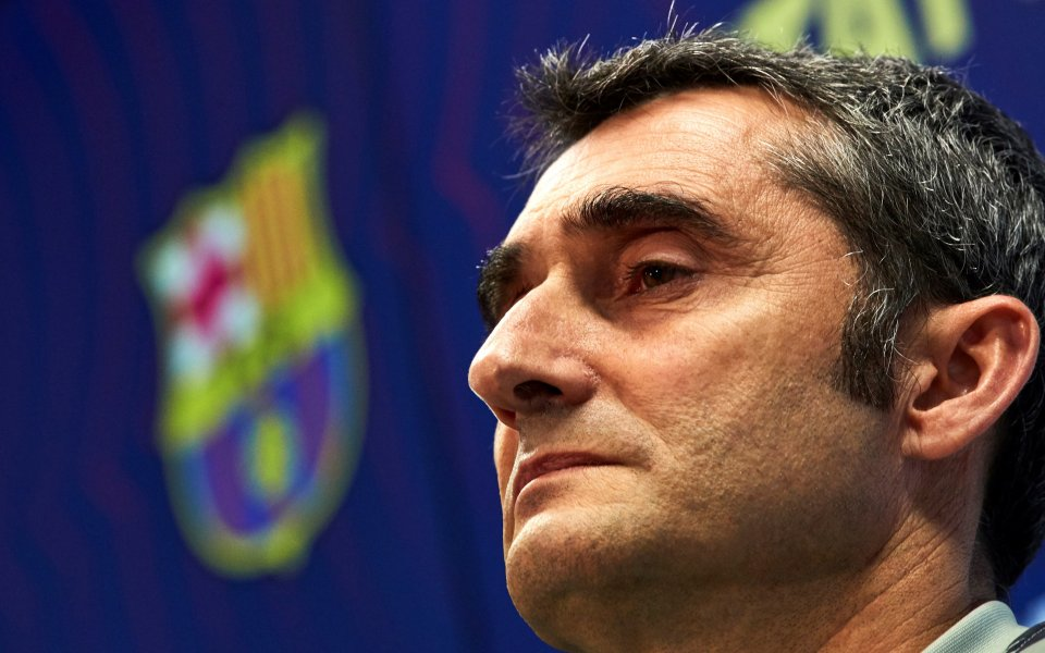 Треньорът на Барселона Ернесто Валверде помоли за спокойствие, защото както