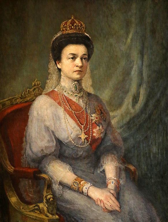 Цено Тодоров Портрет на царица Елеонора, 1909г. Част от колекцията на цар Фердинанд