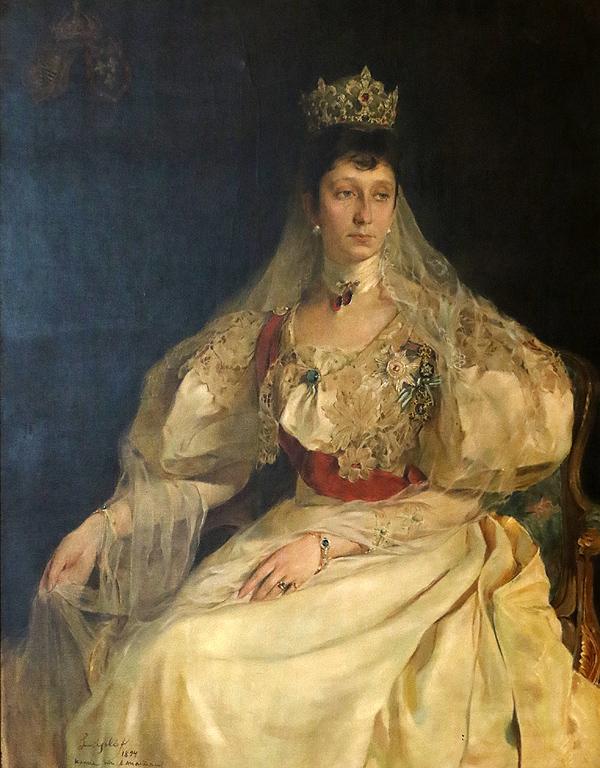 Янко Анастасов копие по Филип де Ласло Портрет на Княгиня Мария-Луиза. 1894г Част от колекцията на цар Фердинанд