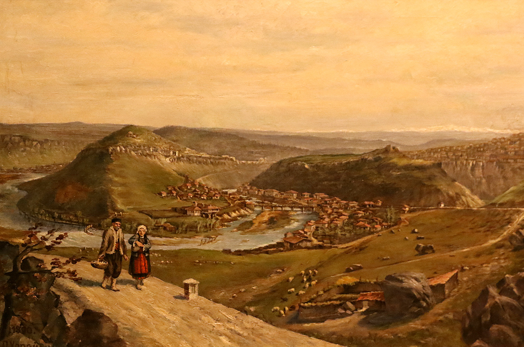 Ото Хорейши Пейзаж към Велико Търново 1890г.