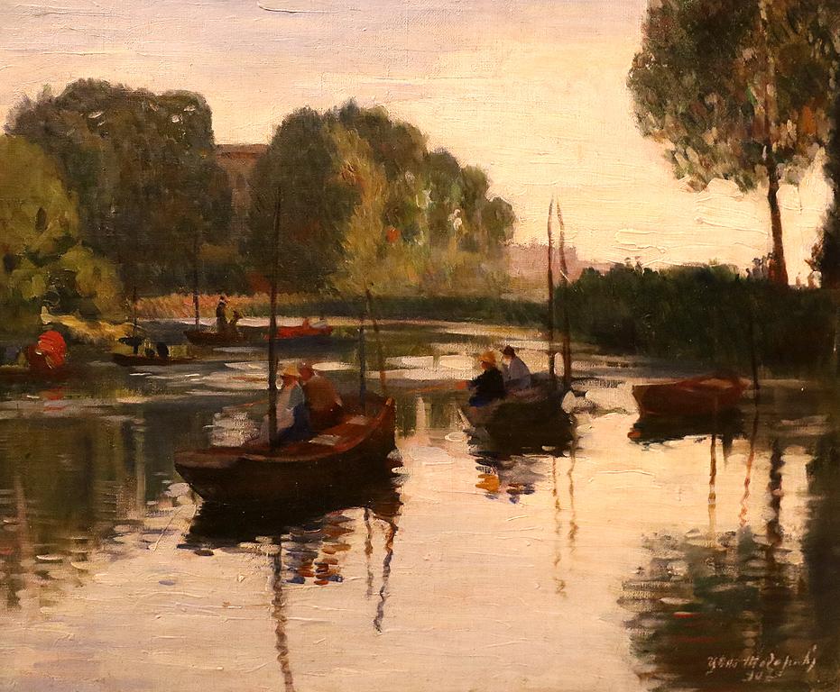 Цено Тодоров Река Марна край Париж 1907г.