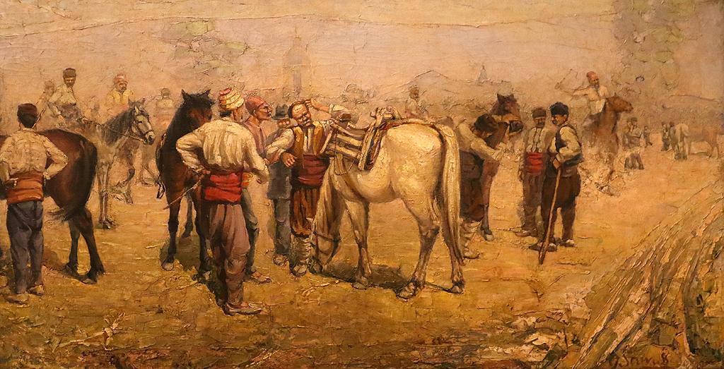 Григор (Гочо) Савов Пазар на коне