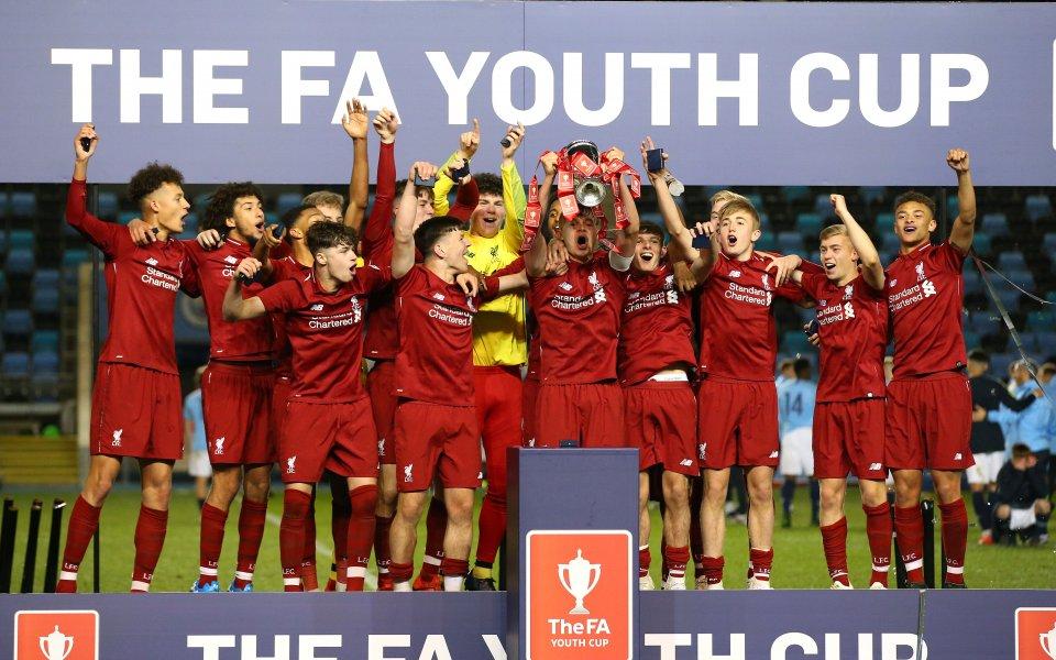 Отборът на Ливърпул до 18-годишна възраст триумфира с Купата на