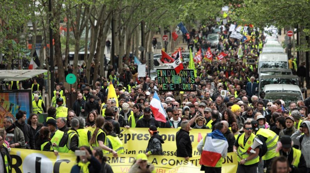 """""""Жълтите жилетки"""" и екоактивисти се обединиха в протест в Париж (ВИДЕО)"""