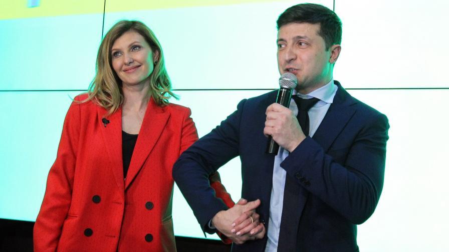 Владимир Зеленски и съпругата му Елена