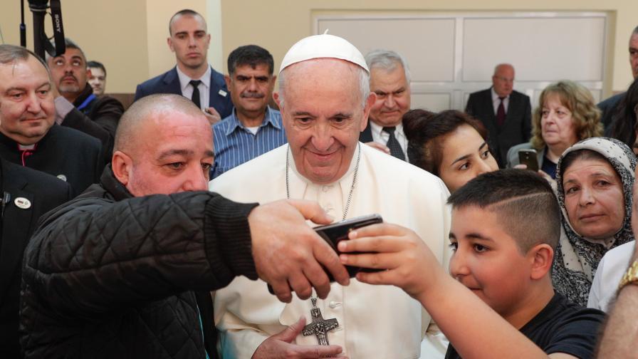 <p><strong>Папата</strong> в бежанския център във &quot;Враждебна&quot;: <strong>Винаги остава надеждата</strong></p>