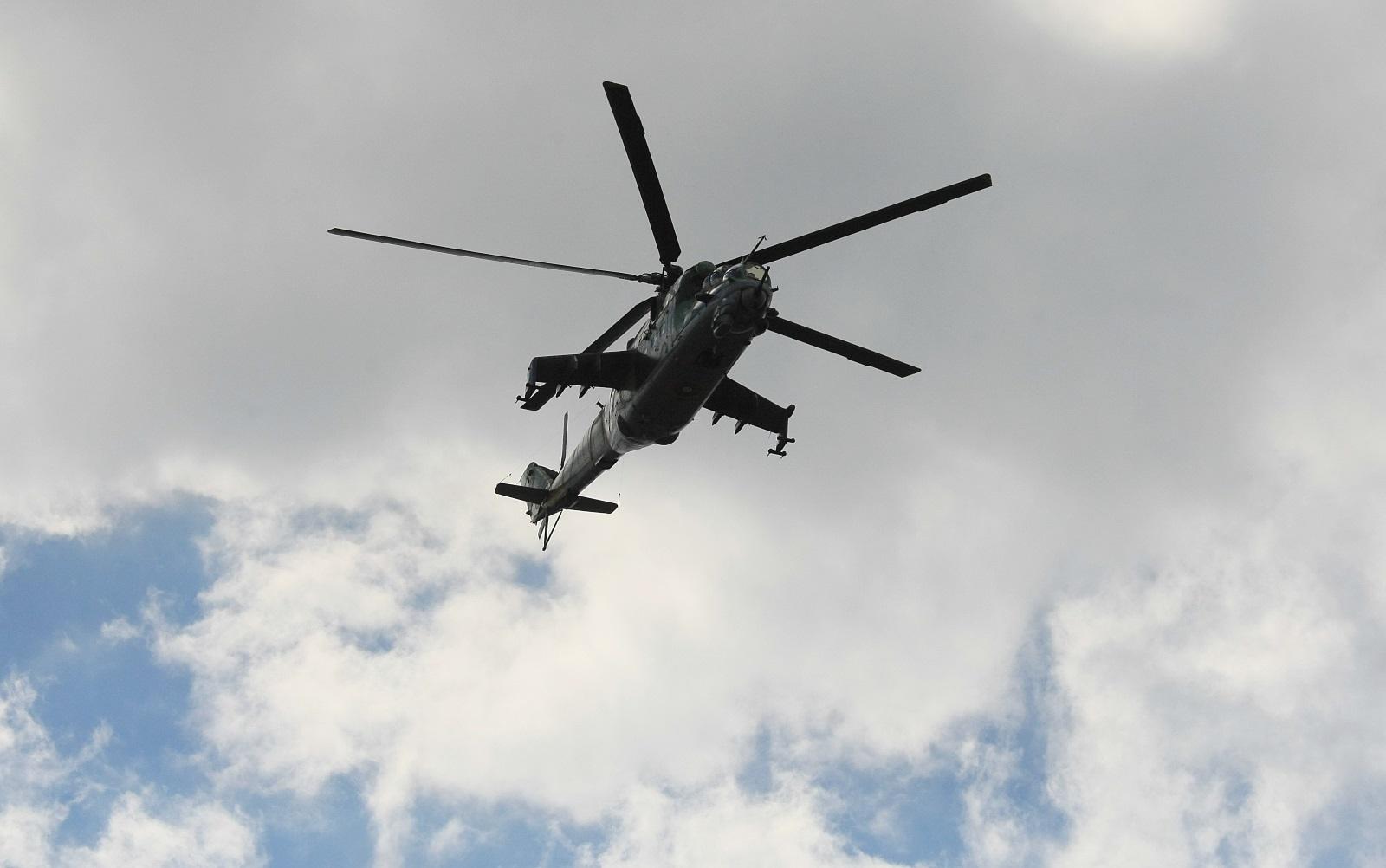 """В демонстрацията на авиацията участваха вертолети и самолети, които са на въоръжение във вертолетната, транспортната, учебната и изтребителната военна авиация: вертолетите Ми-24 и """"Cougar"""" и самолетите """"Спартан"""", """"Пилатус"""" и МиГ-29."""