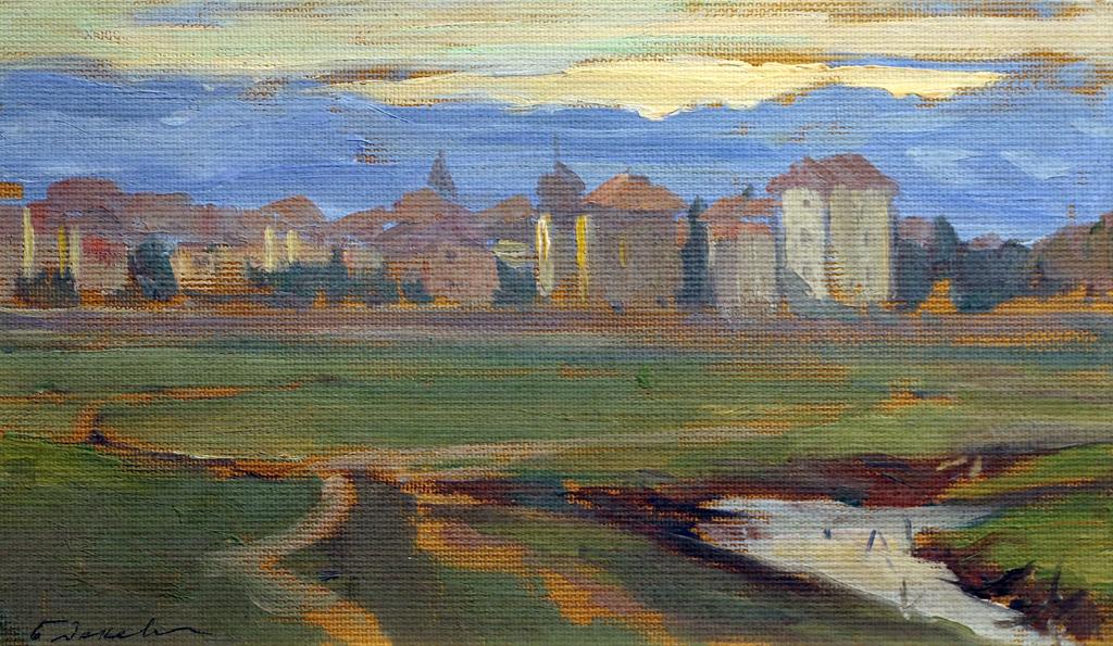 Борис Денев Изглед към София 1915г.