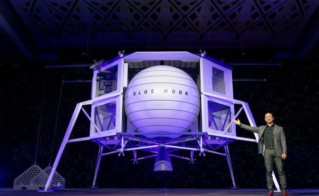 Джеф Безос представи новия апарат за кацане на Луната