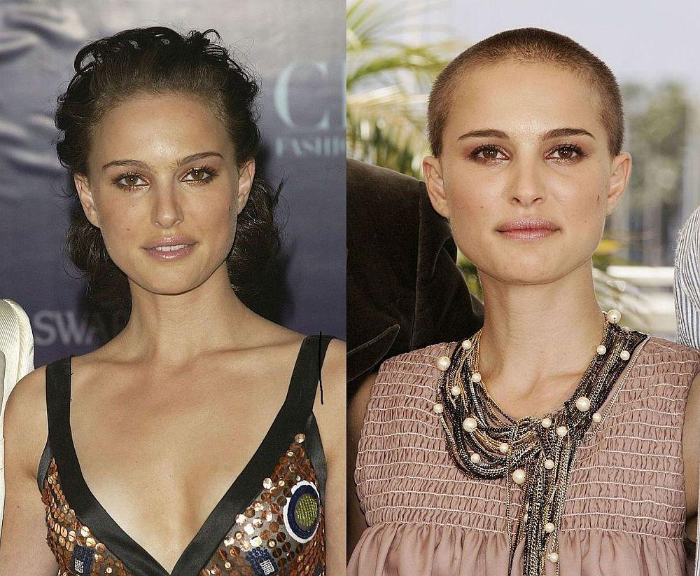 Показваме ви някои от най-популярните актриси, които се осмелиха да обръснат косите си. На снимката: Натали Портман
