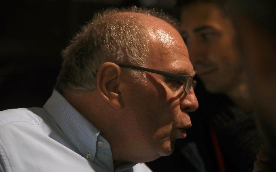 Президентът на Байерн Мюнхен Ули Хьонес заяви, че неговият клуб